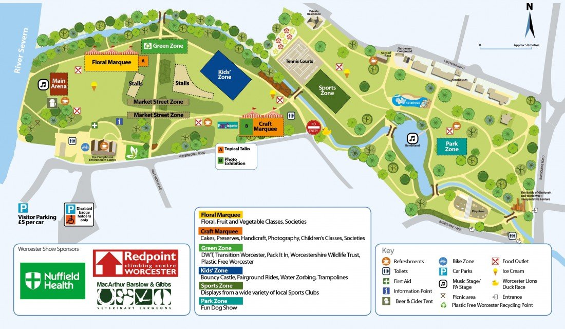 Worcester Show 2019 Map