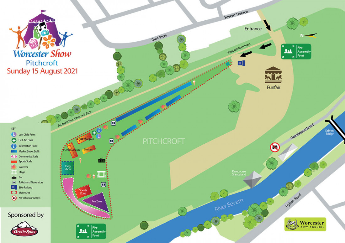 Show Site Map - Pitchcroft